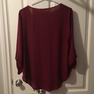 Lush Tops - Burgundy blouse